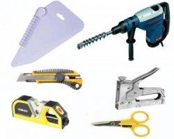 Инструменты и материалы для установки натяжного потолка