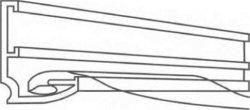 Гарпунный способ установки натяжных потолков