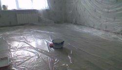 Подготовка помещения к окрашиванию потолка